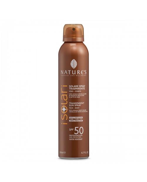 Nature's Solare Spray Trasparente SPF 50 200 ml