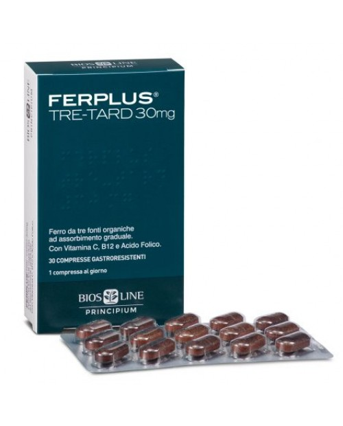 Biosline Principium Ferplus Tre-Tard 30 mg 30 Compresse