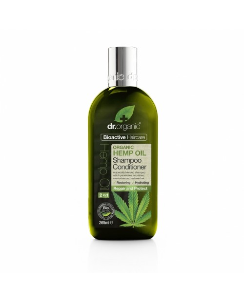 Dr. Organic Hemp Oil Shampoo e Balsamo 2 in 1 265 ml